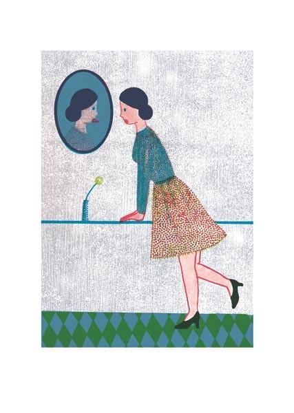 Frau im Spiegel, Franziska Neubert