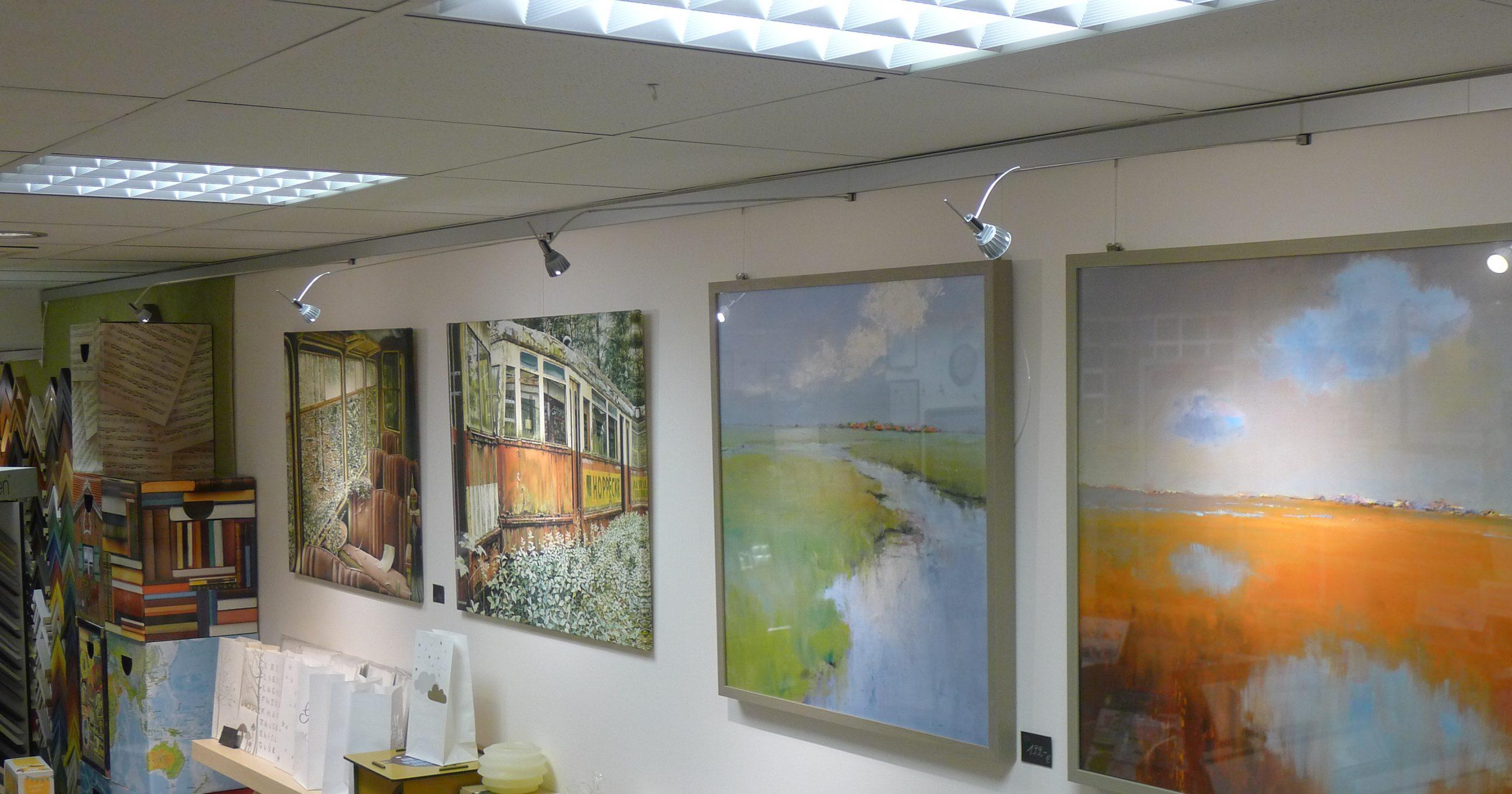 Galerieschienen bei Kunstgriff