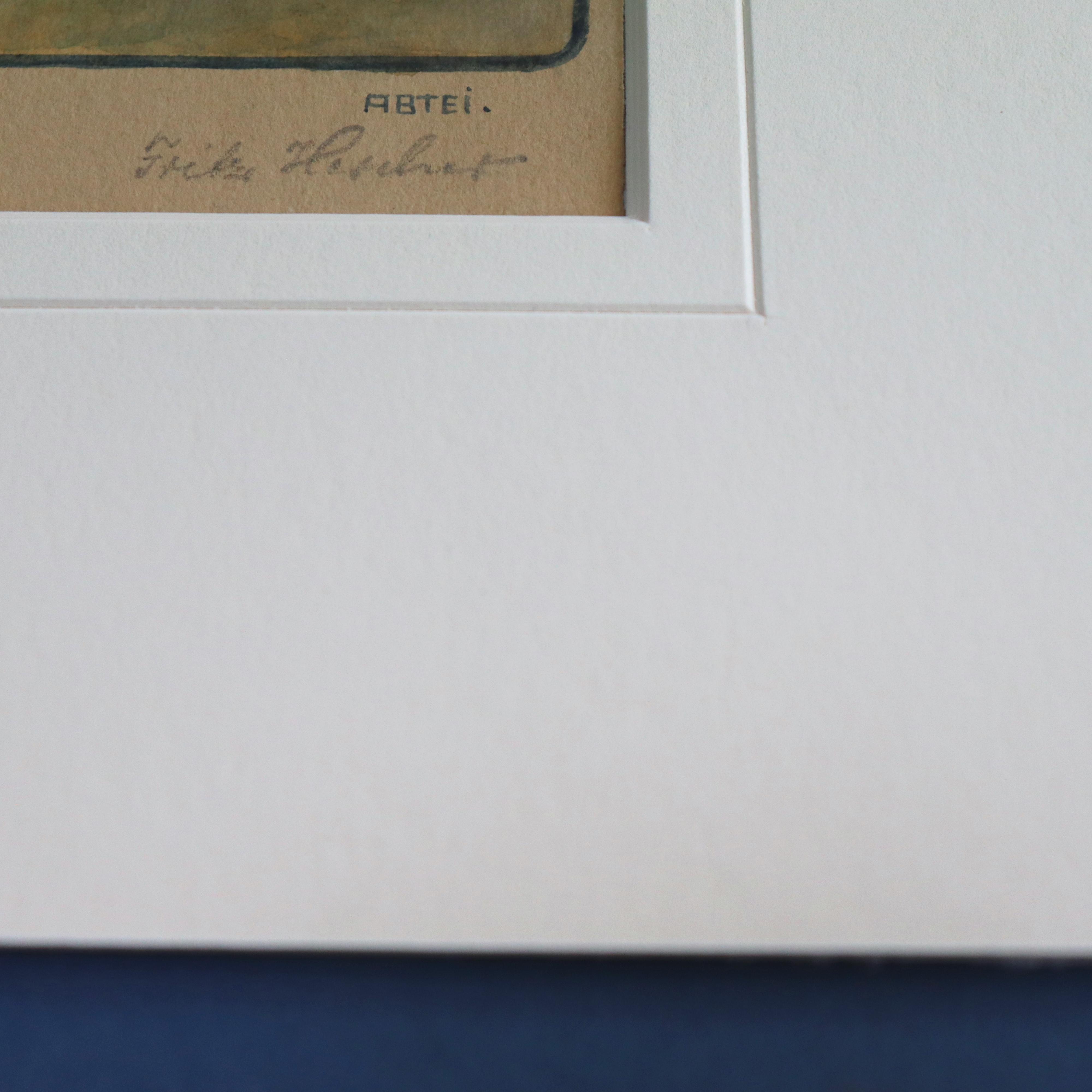 Passepartout mit Keilnutschnitt